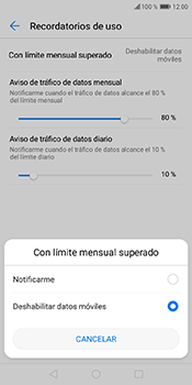 Desactivación límite de datos móviles - Huawei Y6 2018 - Passo 8