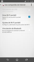 Configura el hotspot móvil - Sony Xperia Z3 D6603 - Passo 14