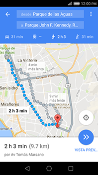 Uso de la navegación GPS - Huawei G8 Rio - Passo 18