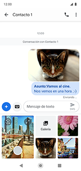Envía fotos, videos y audio por mensaje de texto - Motorola Moto G7 Plus - Passo 19