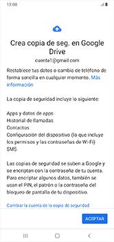 Realiza una copia de seguridad con tu cuenta - Samsung Galaxy A10 - Passo 10