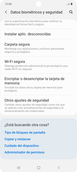 Cómo habilitar Carpeta Segura - Samsung Galaxy S10 Lite - Passo 5