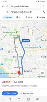 Uso de la navegación GPS - LG G7 Fit - Passo 14