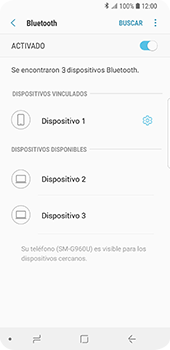 Conecta con otro dispositivo Bluetooth - Samsung Galaxy S9 - Passo 9