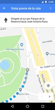 Uso de la navegación GPS - Motorola Moto G6 Play - Passo 16
