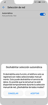 Cómo seleccionar una red en su teléfono manualmente - Huawei Mate 20 Lite - Passo 7