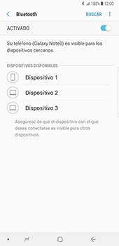 Conecta con otro dispositivo Bluetooth - Samsung Galaxy Note 8 - Passo 7