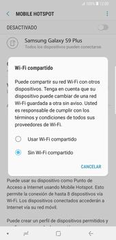 Configura el hotspot móvil - Samsung Galaxy S9 Plus - Passo 7