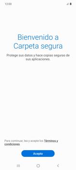 Cómo habilitar Carpeta Segura - Samsung Galaxy S10 Lite - Passo 6