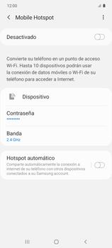 Configura el hotspot móvil - Samsung Galaxy S10 Lite - Passo 7