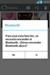 Transferir fotos vía Bluetooth - LG L4 II - Passo 9