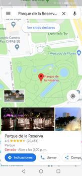 Uso de la navegación GPS - Huawei P30 Lite - Passo 8