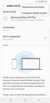 Configura el hotspot móvil - Samsung Galaxy S9 Plus - Passo 9