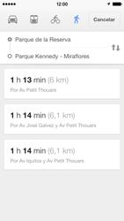 Uso de la navegación GPS - Apple iPhone 5c - Passo 21