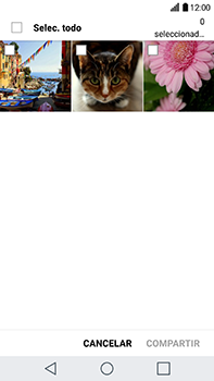 Transferir fotos vía Bluetooth - LG V20 - Passo 6