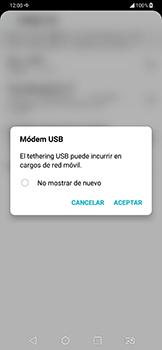 Comparte la conexión de datos con una PC - LG G7 Fit - Passo 6
