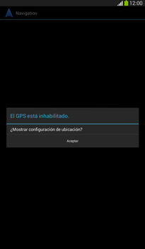 Uso de la navegación GPS - Samsung Galaxy Tab 3 7.0 - Passo 17