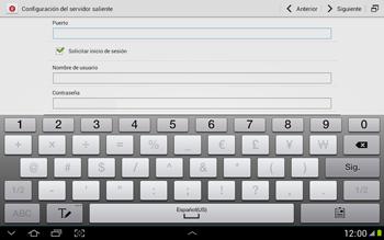 Configura tu correo electrónico - Samsung Galaxy Note 10-1 - N8000 - Passo 14