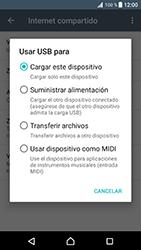Comparte la conexión de datos con una PC - Sony Xperia XZ Premium - Passo 7
