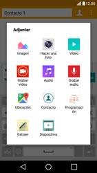 Envía fotos, videos y audio por mensaje de texto - LG K10 - Passo 13