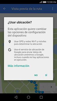 Uso de la navegación GPS - Huawei G8 Rio - Passo 20