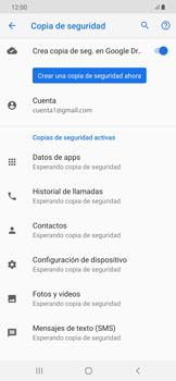 Realiza una copia de seguridad con tu cuenta - Samsung Galaxy A50 - Passo 11