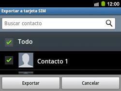 ¿Tu equipo puede copiar contactos a la SIM card? - Samsung Galaxy Y Pro GT - B5510 - Passo 7