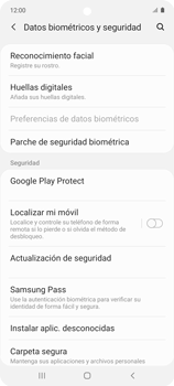 Habilitar seguridad de huella digital - Samsung Galaxy A51 - Passo 4