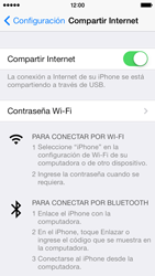 Comparte la conexión de datos con una PC - Apple iPhone 5c - Passo 7