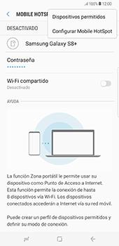 Configura el hotspot móvil - Samsung Galaxy S8+ - Passo 9