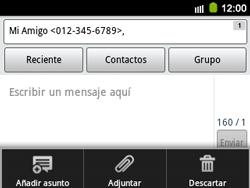 Envía fotos, videos y audio por mensaje de texto - Samsung Galaxy Y Pro GT - B5510 - Passo 8