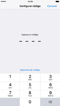 Activa o desactiva el uso del código de seguridad - Apple iPhone 7 Plus - Passo 6