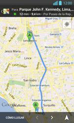 Uso de la navegación GPS - LG Optimus L 7 II - Passo 16