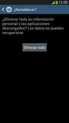 Restaura la configuración de fábrica - Samsung Galaxy S4 Mini - Passo 7