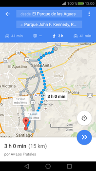 Uso de la navegación GPS - Huawei Mate S - Passo 16
