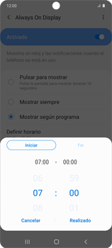 Cómo activar Always on Display - Samsung Galaxy S10 Lite - Passo 9