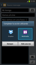 Envía fotos, videos y audio por mensaje de texto - Samsung Galaxy S 3  GT - I9300 - Passo 15