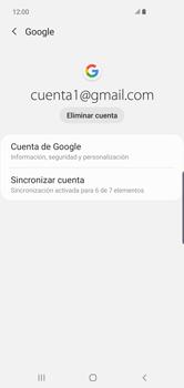 Desactivar la sincronización automática - Samsung S10+ - Passo 7