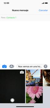 Envía fotos, videos y audio por mensaje de texto - Apple iPhone X - Passo 9