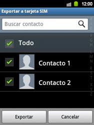¿Tu equipo puede copiar contactos a la SIM card? - Samsung Galaxy Y  GT - S5360 - Passo 7