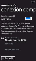 Configura el hotspot móvil - Nokia Lumia 800 - Passo 8