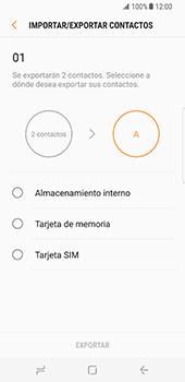 ¿Tu equipo puede copiar contactos a la SIM card? - Samsung Galaxy S8 - Passo 14