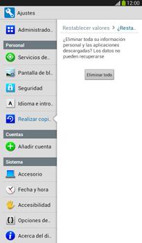 Restaura la configuración de fábrica - Samsung Galaxy Tab 3 7.0 - Passo 7