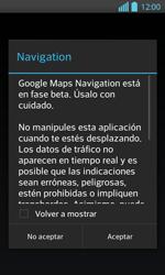 Uso de la navegación GPS - LG Optimus L 7 II - Passo 20