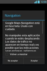 Uso de la navegación GPS - LG L4 II - Passo 20