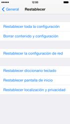 Restaura la configuración de fábrica - Apple iPhone 5c - Passo 5