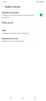 Activa o desactiva el roaming de datos - LG K40S - Passo 4
