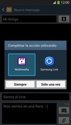 Envía fotos, videos y audio por mensaje de texto - Samsung Galaxy S4  GT - I9500 - Passo 15