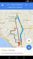 Uso de la navegación GPS - Huawei Ascend Mate 7 - Passo 15