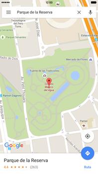 Uso de la navegación GPS - Apple iPhone 6 Plus - Passo 12